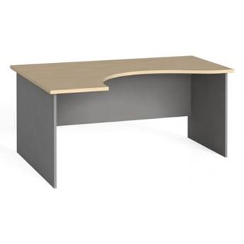Narożny stół biurowy, zaokrąglony 160x120 cm, brzoza, lewy