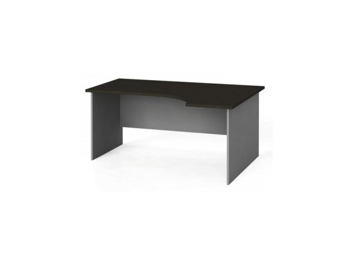 Stół biurowy ergonomiczny 160x120 cm, wenge, prawy