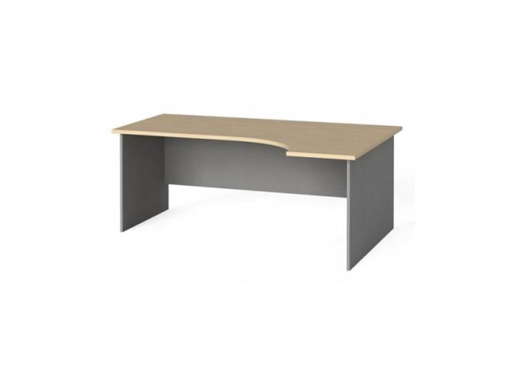 Stół biurowy ergonomiczny 180x120 cm, brzoza, prawy