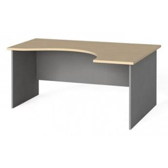 Narożny stół biurowy, zaokrąglony 160x120 cm, brzoza, prawy