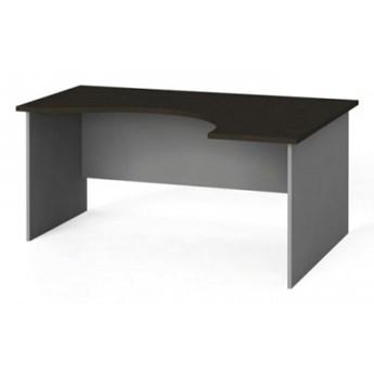 Narożny stół biurowy, zaokrąglony 160x120 cm, wenge, prawy