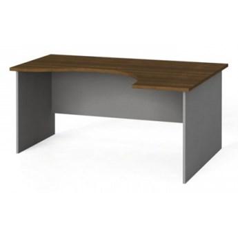 Narożny stół biurowy, zaokrąglony 160x120 cm, orzech, prawy