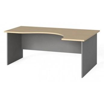Narożny stół biurowy, zaokrąglony 180x120 cm, brzoza, prawy