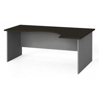 Narożny stół biurowy, zaokrąglony 180x120 cm, wenge, prawy