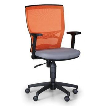 Krzesło biurowe VENLO, pomarańczowe / szare