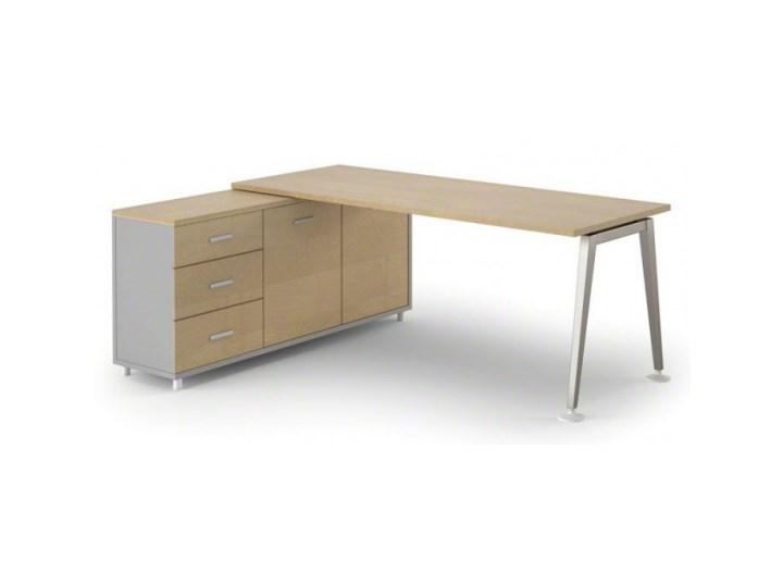 Stół Alfa z szafką 1800 x 800 mm lewy, brzoza