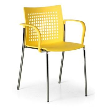 Krzesło kuchenne Coffee Break, żółte