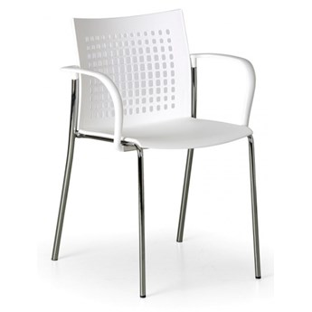 Krzesło kuchenne Coffee Break, białe