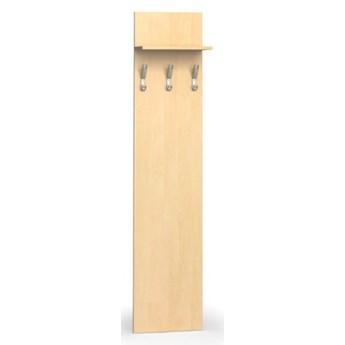Garderoba z wieszakami PRIMO, 3 haczyki, półka, brzoza