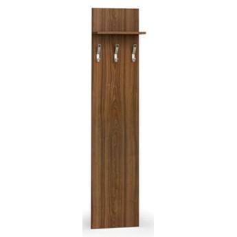 Garderoba z wieszakami PRIMO, 3 haczyki, półka, orzech