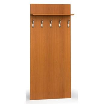Garderoba z wieszakami PRIMO, 5 haczyków, półka, czereśnia