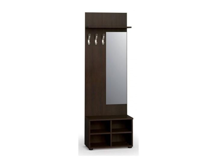 Garderoba z półką na buty i lustrem PRIMO, 3 haczyki, półka, wenge