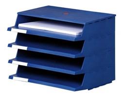 Plastikowy przybornik na dokumenty, niebieski