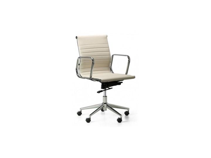 Krzesło biurowe STYLE S, skóra, kremowy Krzesła i fotele