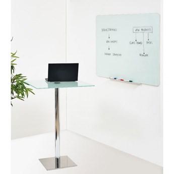 Tablica szklana, 90x120 cm, biała