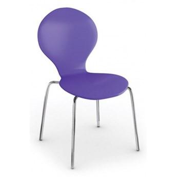 Fotel do jadalni Candy, fioletowy