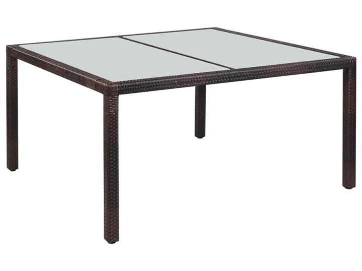 Stół ogrodowy Oliwia 150 cm polirattan brązowy Metal Metal Metal