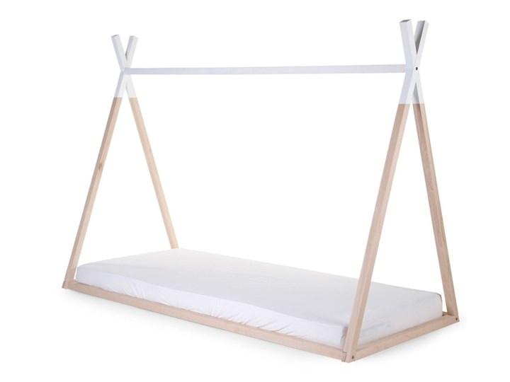 CHILDHOME Rama łóżka tipi, 90 x 200 cm, drewno naturalne i białe