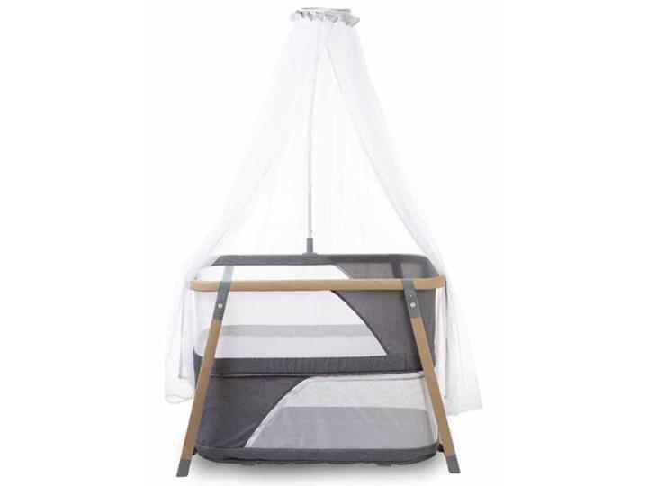 CHILDHOME Składane łóżeczko dla dzieci, kolor naturalny i szary