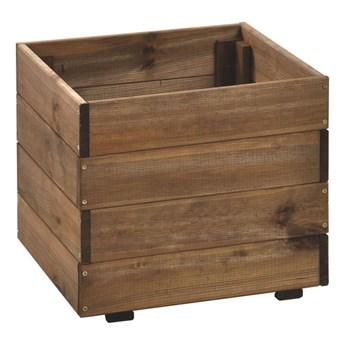 Donica ogrodowa 40 x 40 cm drewniana kwadratowa NIVE NATERIAL