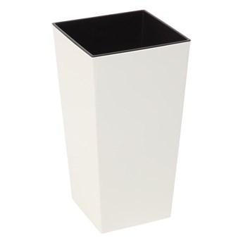 Doniczka plastikowa 25 x 25 cm kremowa FINEZJA