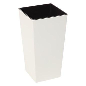 Doniczka plastikowa 30 x 30 cm kremowa FINEZJA
