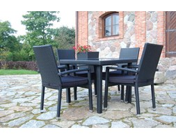Miloo :: Santa Fe stół ogrodowy z blatem szklanym
