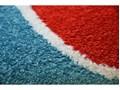 Dywan PAINT ćwierć koła G4776 - Tęcza niebieski/krem 200x200 cm