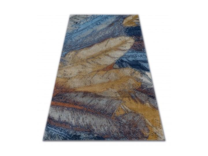Dywan SOFT 6316 PIÓRKA żółty / niebieski / musztarda 80x150 cm 180x270 cm 160x220 cm 140x190 cm 120x170 cm