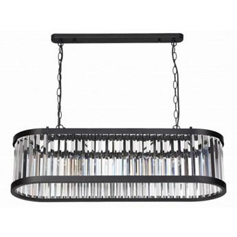 GALAXY żyrandol 5 x 40W E27 nowoczesny glamour szklany podłużny nad stół lampa sufitowa Light Prestige LP-8527/5P