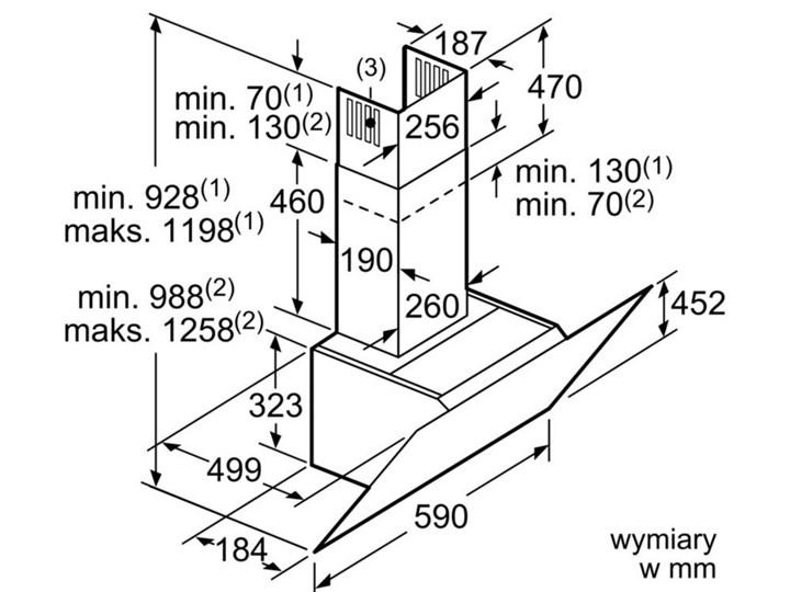 Okap BOSCH DWK67CM60 Szerokość 60 cm Okap kominowy Sterowanie Elektroniczne