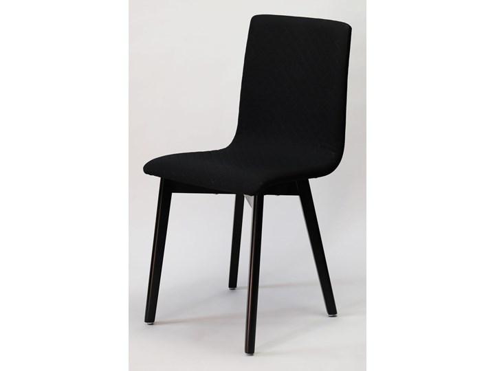 GRIM krzesło drewniane czarne Tkanina Głębokość 41 cm Pomieszczenie Jadalnia Drewno Szerokość 42 cm Pikowane Głębokość 38 cm Tapicerowane Płyta MDF Wysokość 86 cm Styl Industrialny