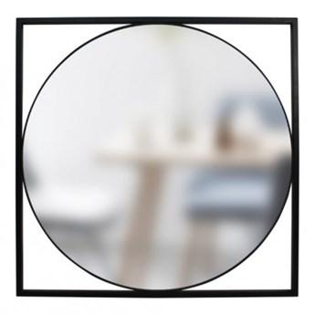 Lustro Olton czarny mat lustro 84x84