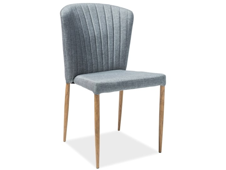 Tapicerowane krzesło jadalniane z przeszyciami Polly