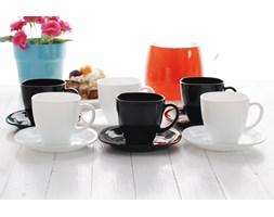 Serwis kawowy QUADRATO NOIR & BLANC na 6 osób (12 el.)