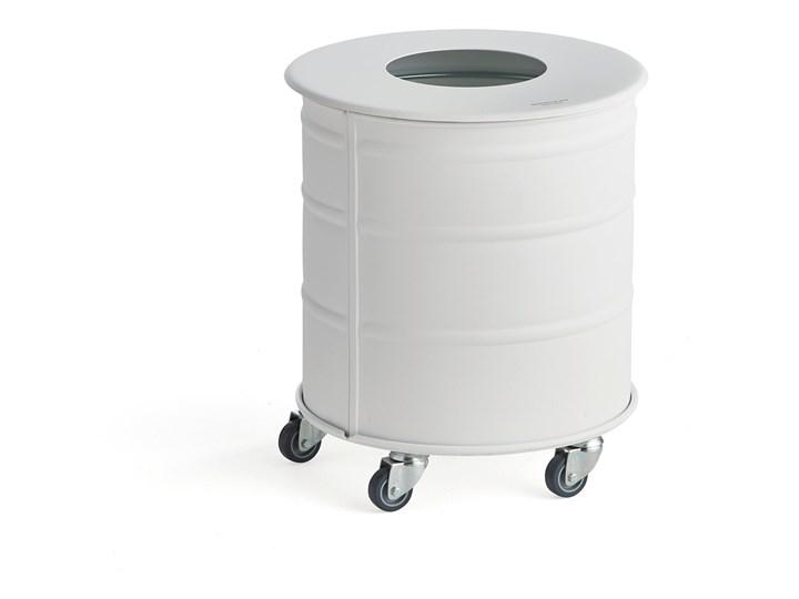 Pojemnik na odpady BROOKLYN MINI z pokrywą, Ø 400x450 mm, biały
