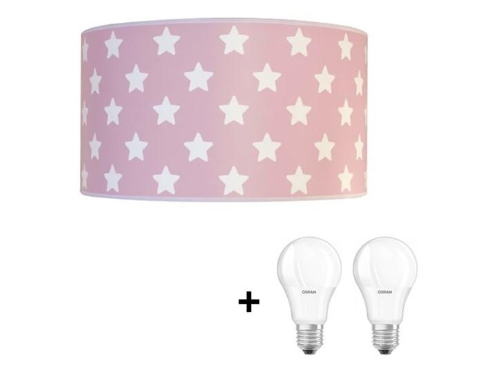 LED Plafon dziecięcy STARS PINK 2xE27/9W/230V