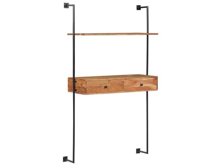 vidaXL Biurko ścienne, 90 x 40 x 170 cm, lite drewno akacjowe