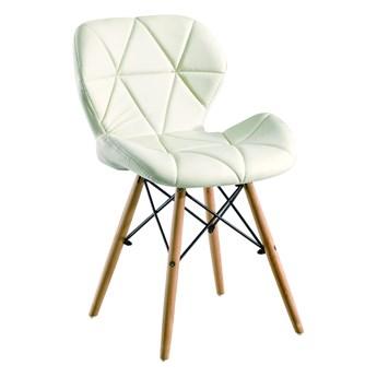 Krzesło Eliot Dsw Paris bukowe nogi białe