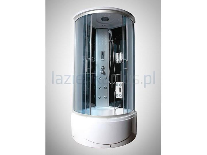 Kabina Prysznicowa 90 X 90 Cm Z Hydromasażem I Radiem Chrom Maxispa