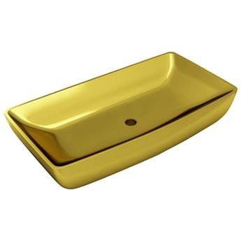 vidaXL Umywalka, 71 x 38 x 13,5 cm, ceramiczna, złota