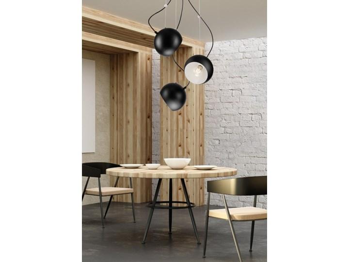 INEZ plafon - lampa wisząca 3-punktowa czarna Lampa z kloszem Metal Kolor Szary Styl Industrialny