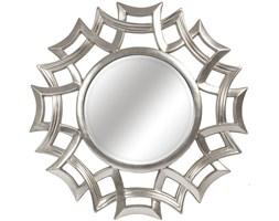 LUSTRO FLORA srebrna rama okrągłe FI 103
