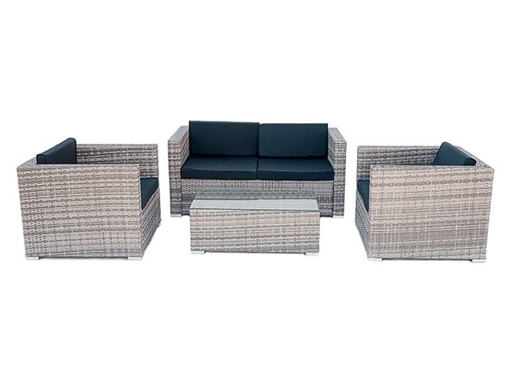 4-częściowy zestaw mebli rattanowych z wygodnymi poduszkami