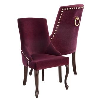 Krzesło Alexis 3 z pinezkami i kołatką, nogi Ludwik
