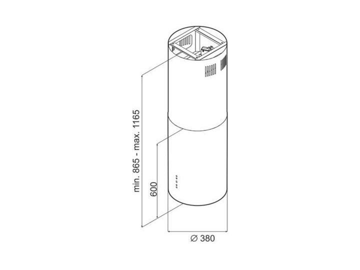 VDB PEARL White Okap wyspowy Sterowanie Elektroniczne Szerokość 39 cm Poziom hałasu 66 dB