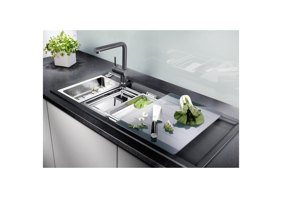 blanco axia ii 6 s zlewozmywak silgranit puradur lewy. Black Bedroom Furniture Sets. Home Design Ideas
