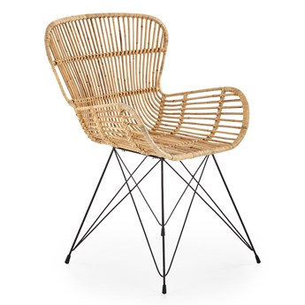 Rattanowe krzesło na stalowych nogach K335