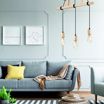 LEON lampa wisząca 3-punktowa naturalny buk