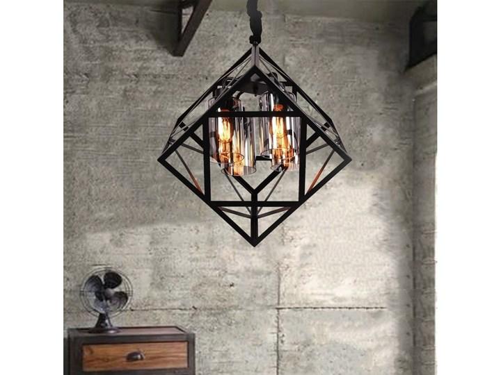 NOWOCZESNA LAMPA WISZĄCA LOFT BRUTTE Stal Lampa druciana Szkło Metal Kategoria Lampy wiszące Styl Nowoczesny